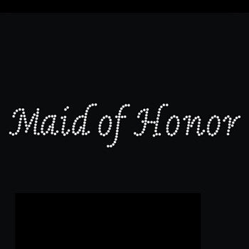 Rhinestone Iron On Transfer - 'Maid of Honor'