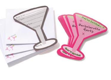 Martini Glass Invitations, 12 pc