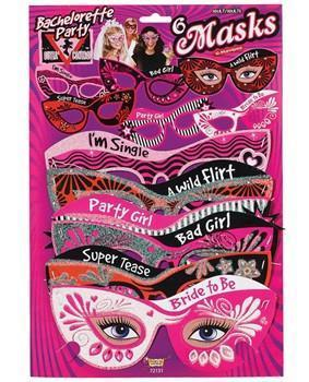 Bachelorette Party Personality Masks, 6pk - Bachelorette Superstore - Bachelorette Party Ideas