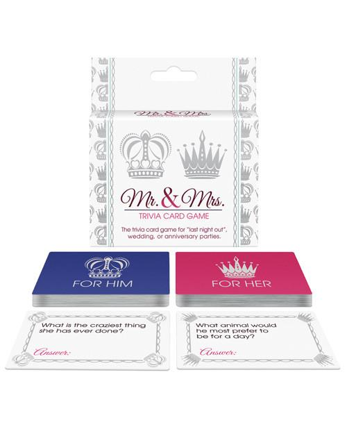 Free Mr And Mrs Quiz Questions: Mr. & Mrs. Trivia Card Game