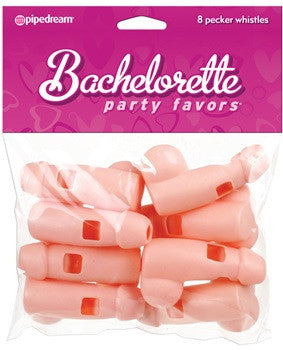 Willy Whistles 8 pk- natural - Bachelorette Superstore - Bachelorette Party Ideas