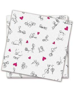 Naughty Position Napkins, 8 ct - Bachelorette Superstore - Bachelorette Party Ideas