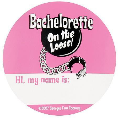 Bachelorette On the Loose Nametags