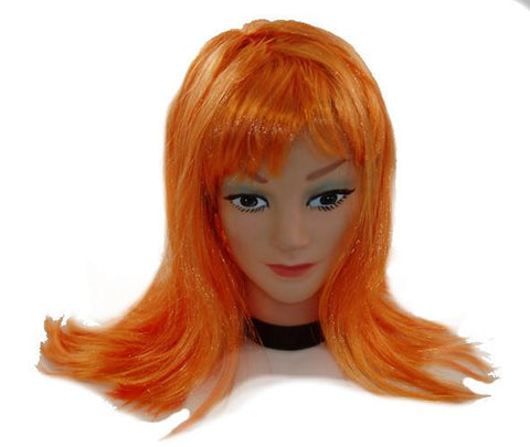 Orange Party Wig - Bachelorette Superstore - Bachelorette Party Ideas