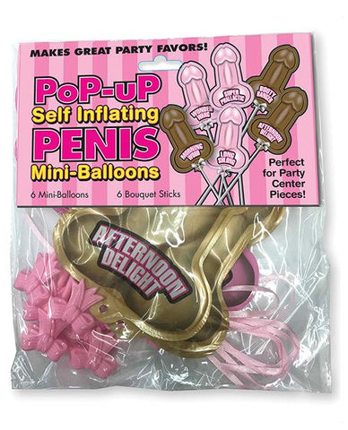 Self Inflating- mini penis balloons, 6 pk - Bachelorette Superstore - Bachelorette Party Ideas