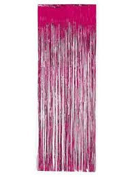 Dark Pink Shiny Foil Door Fringe, 1 pkg