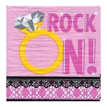 Rock On! Napkins, bev., 30 pk