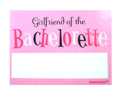 Girlfriend of the Bachelorette Name Tags, 10 pk
