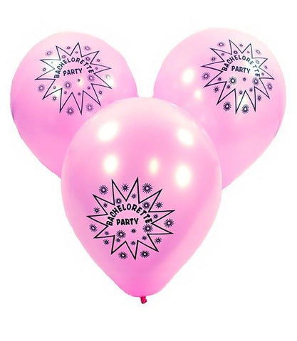 Pink Bachelorette Party Balloons, 12 pk