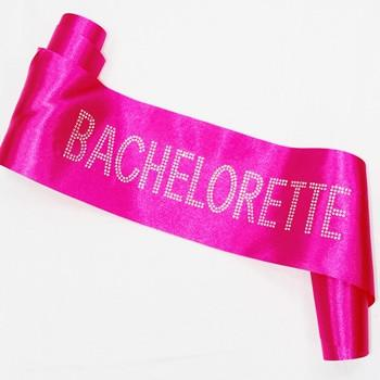 Hot Pink Bachelorette Sash, Block