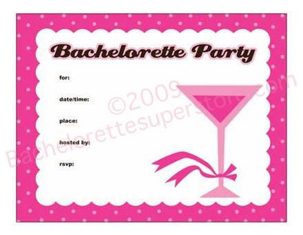Pink Martini Invitations - Bachelorette Superstore - Bachelorette Party Ideas