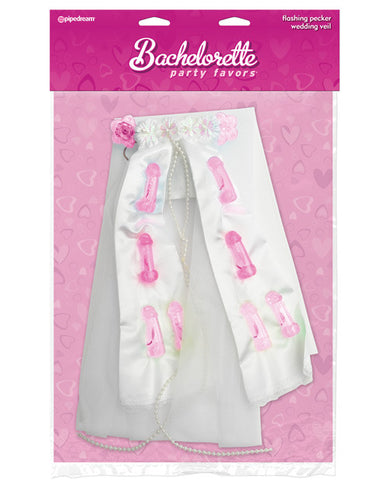 Flashing Pink Pecker Veil - Bachelorette Superstore - Bachelorette Party Ideas