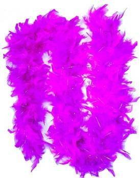 Feather Boa w/ Sparkles, pink & purple