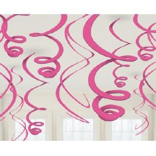 Pink Swirl Decorations, 12 pk