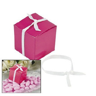 Pre-Tied Favor Box Ribbons w/ Elastic, 6 pk