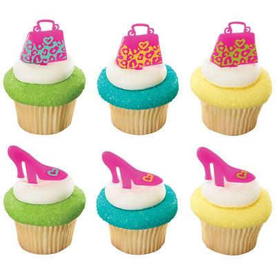 Heel & Purse Cupcake Toppers - 12 pack