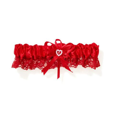 Red Lace Garter - Bachelorette Superstore - Bachelorette Party Ideas