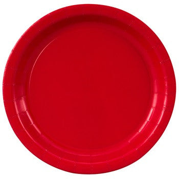 "Red plates, 7"" 20 ct."