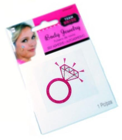 Diamond Ring Tattoo Sticker, 1 pc