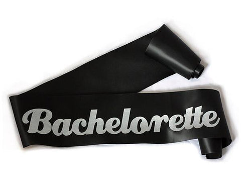 Glittering Black/Silver Bachelorette Sash - Bachelorette Superstore - Bachelorette Party Ideas