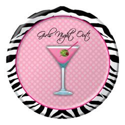 Sassy Girls Night Out Zebra Plates, 7""
