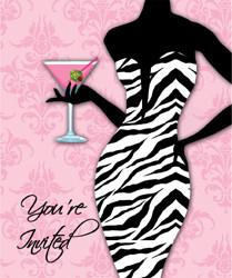 Sassy and Sexy Girls Night Out Invitations- 8 pack - Bachelorette Superstore - Bachelorette Party Ideas