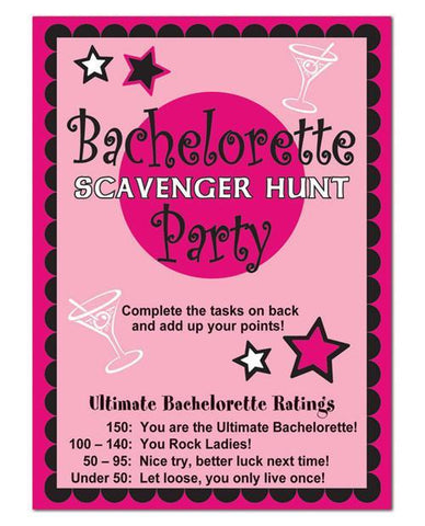 Bachelorette Party Scavenger Hunt Game 8 Pk