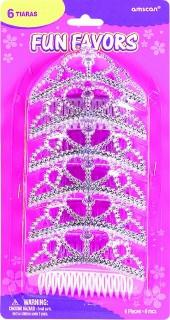 Silver Tiara Combs, 6pk - Bachelorette Superstore - Bachelorette Party Ideas