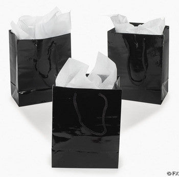 Black Favor Bags, 12 pk - Bachelorette Superstore - Bachelorette Party Ideas