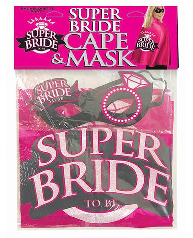 Super Bride Cape & Mask Set