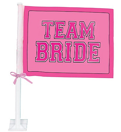 TEAM BRIDE Car Flag, 1 pc