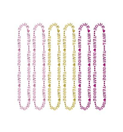 Team Bride Necklaces, 6pc