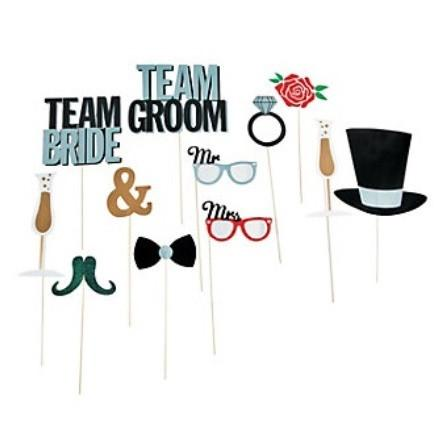 Team Bride Photo Props, 12 pcs