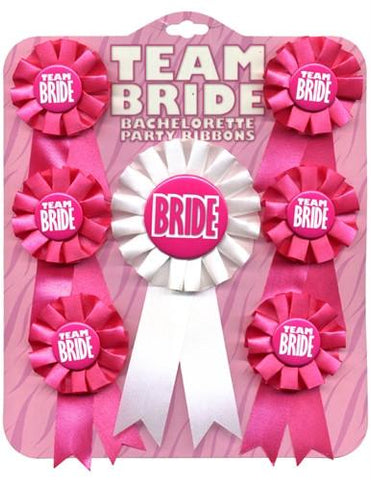 Team Bride Ribbon Set, 7 pc - Bachelorette Superstore - Bachelorette Party Ideas