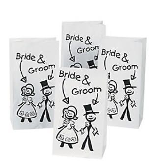 Bride & Groom Treat Bags, 12 pk