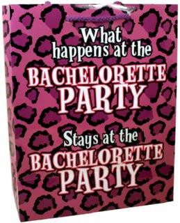 What Happens at the Bachelorette Party.... Gift Bag - Bachelorette Superstore - Bachelorette Party Ideas