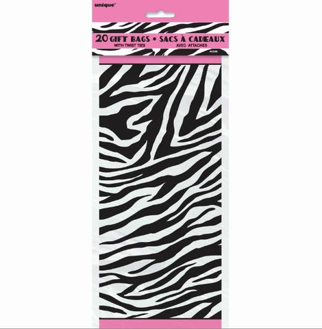 Zebra Cello Favor Bags, 20 pk - Bachelorette Superstore - Bachelorette Party Ideas