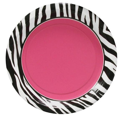 "Zebra Passion Plates, 7"" - Bachelorette Superstore - Bachelorette Party Ideas"