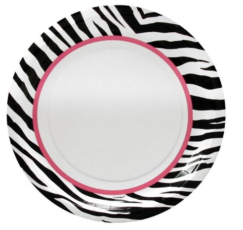 "Sassy Zebra Paper Plates 9"", 8 pk - Bachelorette Superstore - Bachelorette Party Ideas"