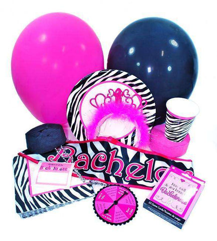 Bachelorette Party Pack - Zebra Print - Bachelorette Superstore - Bachelorette Party Ideas