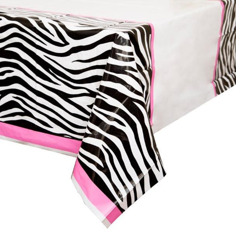 "Zebra Passion Table Cover, 54""x84"" - Bachelorette Superstore - Bachelorette Party Ideas"