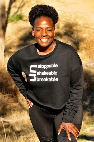 Un Stoppable UNShakable UNBreakable Crop Sweatshirt Crop Sweatshirt Bella Canva
