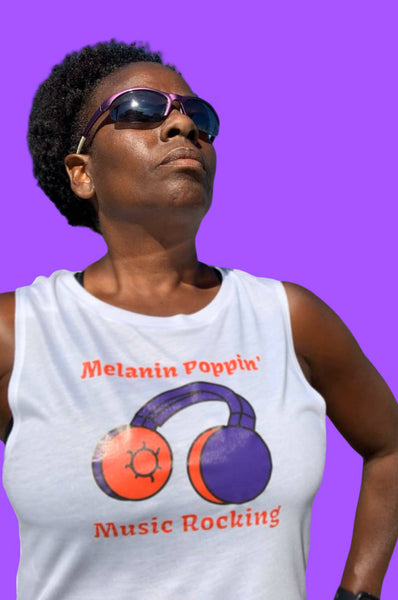 Melanin Poppin' Muscle Tank Tank Top Bella Canva