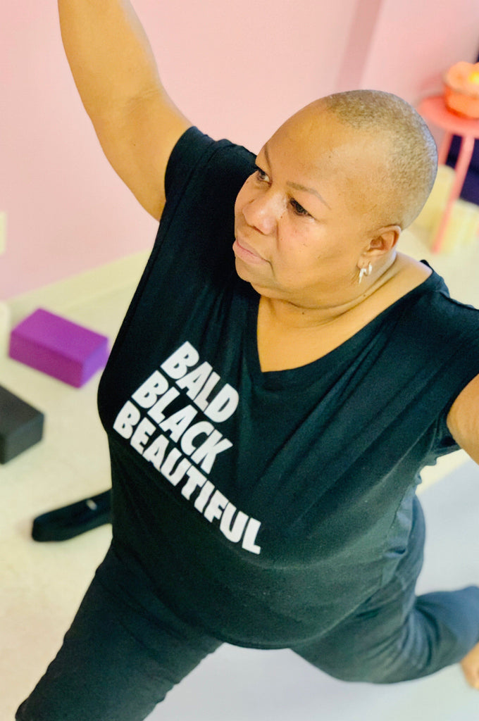Bald Black Beautiful T-Shirt T shirt Bella Canva