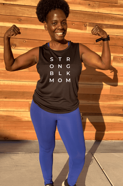 STR ONG BLK MOM Muscle Tank Muscle Tank Bella Canva