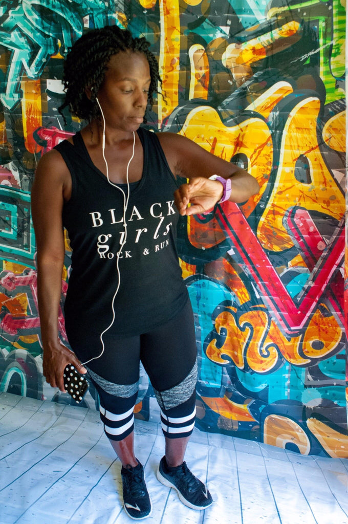 Black girls Rock and run workout tank top for african american women