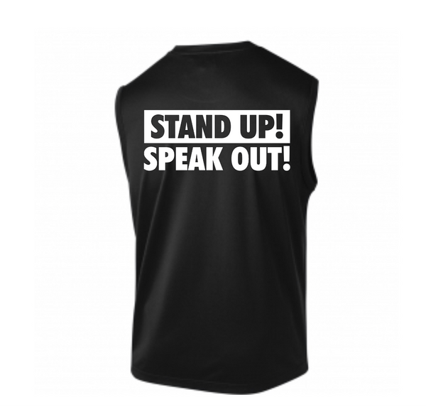 Silence Isn't An Option Stand Up! Speak Out!  Men's Muscle Tank