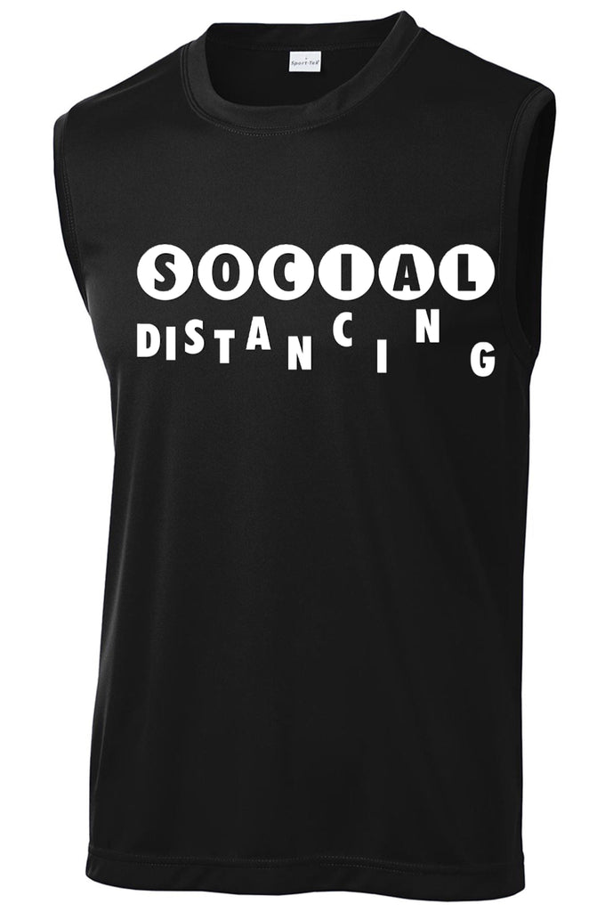Men's Social Distancing Since Day One! Muscle Tank Muscle Tank Sport Tek