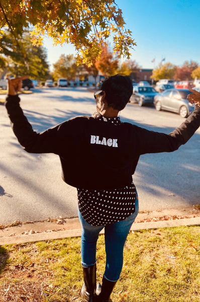 All Day Out Loud Unapologetically BLACK! Cropped Sweatshirt Crop Sweatshirt Bella