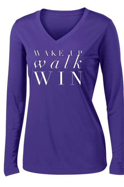 Wake Up Walk Win Long Sleeve T- Shirt Long Sleeve T Sport